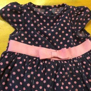 2t polka dot navy dress